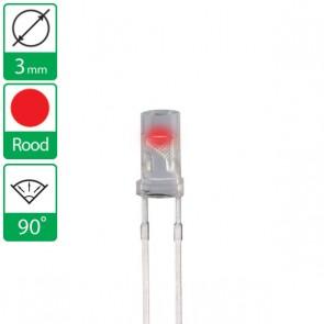 Rode LED 90 graden 3mm