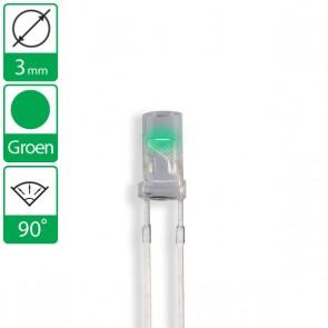 Groene LED 90 graden 3mm