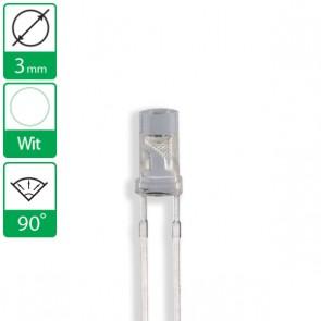 Witte LED 90 graden 3mm