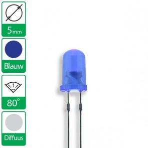 Diffuus Blauwe LED 80 graden 5mm