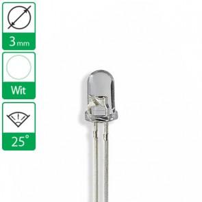 Witte LED 25 graden 3mm