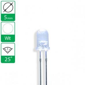 Witte LED 25 graden 5mm