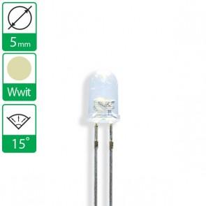 Warm Witte LED 15 graden 5mm