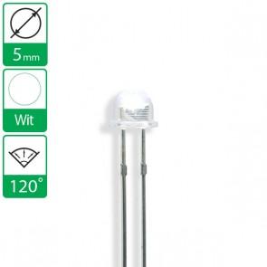 Witte LED 120 graden 5mm