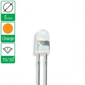 Oranje ovale LED 70/30 graden 5mm