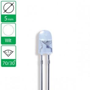 Witte ovale LED 70/30 graden 5mm