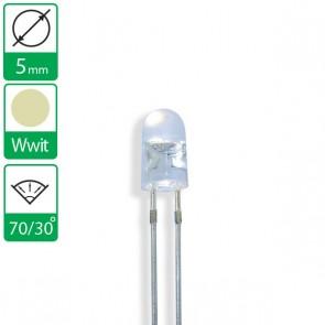 Warm witte ovale LED 70/30 graden 5mm