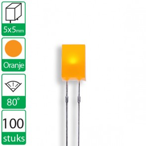 100 Oranje LEDs 80 graden 5x5mm