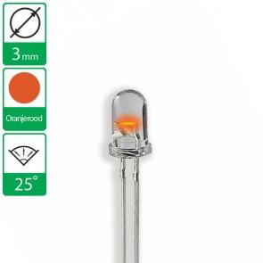 Oranje/Rode LED 25 graden 3mm