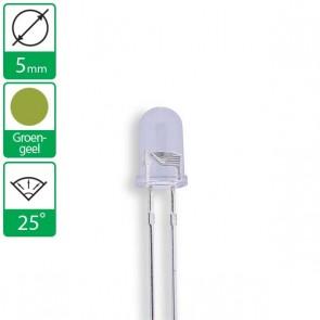 Groen/Gele LED 25 graden 5mm