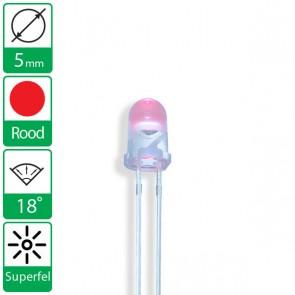 Super Rode LED 18 graden 5mm