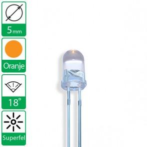 Super felle oranje LED 18 graden 5mm