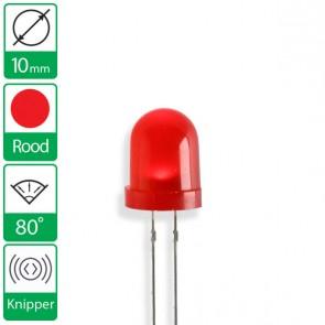 Rode knipper LED 80 graden 10mm