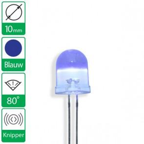 Blauwe knipper LED 80 graden 10mm