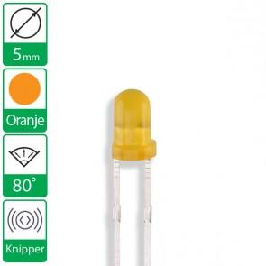 Oranje knipper LED 80 graden 5mm