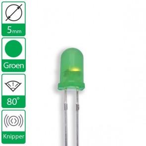 Groene knipper LED 80 graden 5mm