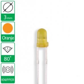 Oranje knipper LED 80 graden 3mm