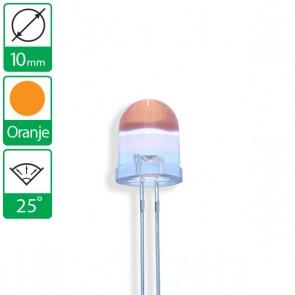 Oranje LED 25 graden 10mm