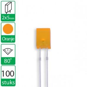 100 Oranje LEDs 80 graden 2x5mm