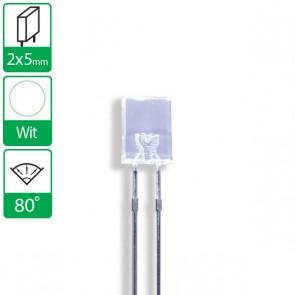 Witte LED 80 graden 2x5mm