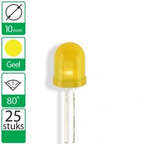 25 Gele LEDs 80 graden 10mm