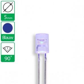 Blauwe LED 90 graden 5mm