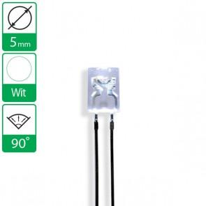 Witte LED 90 graden 5mm