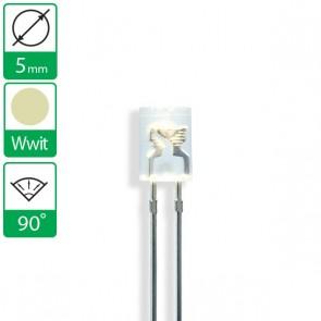Warm Witte LED 90 graden 5mm