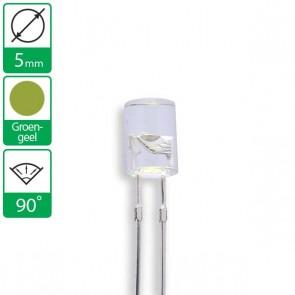 Groen/Gele LED 90 graden 5mm