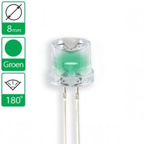 Groene LED 180 graden 8mm