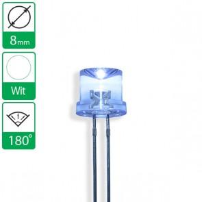 Witte LED 180 graden 8mm