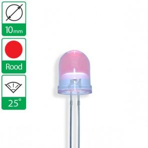 Rode LED 25 graden 10mm