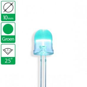 Groene LED 25 graden 10mm