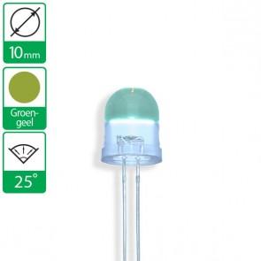 Groen/Gele LED 25 graden 10mm