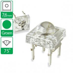 Groene LED 75 graden 7,6mm