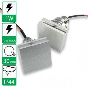 1W power LED spot wand inbouw Warm Wit, stroomgestuurd