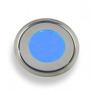 Vloerspot blauw RVS