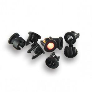 25x 3 mm LED Houder Plastic