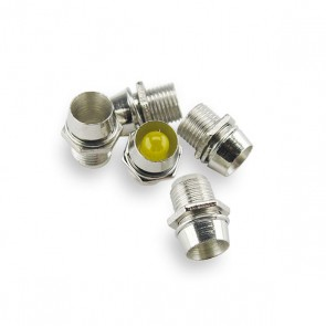 25x 5 mm. LED Houder Chrome (low cost)