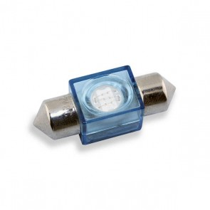 Festoon 31 mm. LED Vervanger (blauw)