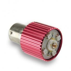 BA15S LED Vervanger (oranje) 5 W (OP=OP)