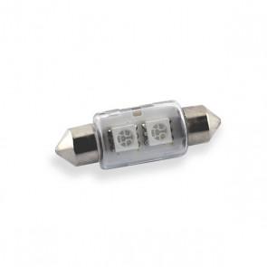 Festoon 36 mm. LED Vervanger met 5050 LED chip (Blauw)