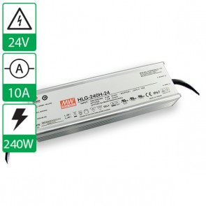 24V 10A 240W Mean well voeding met power factor correctie HLG-240H-24B