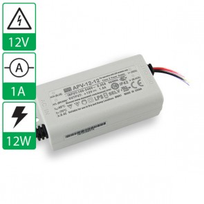 12V 1A 12W Mean well voeding APV-12-12