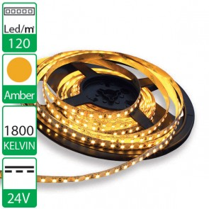 1m 120 Led's flexibele LED strip 24V Amber 1800K