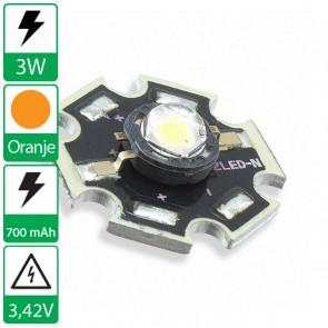 3 watt P4 Edison opto LED op ster ORANJE