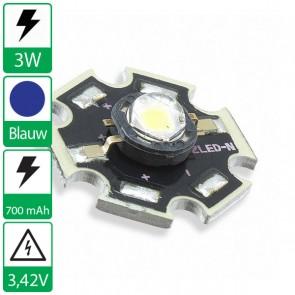 3 watt P4 Edison opto LED op ster BLAUW