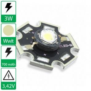 3 watt P4 Edison opto LED op ster WarmWit