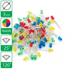 Assortiment met 25 LEDs per 3mm LED