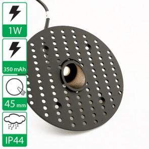 1W inbouw Mini led spot zwart, stroomgestuurd 350 mA